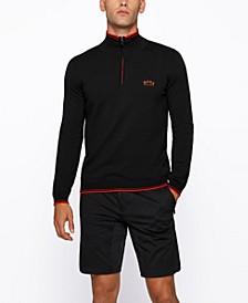 BOSS Men's Zip-Neck Logo Sweater