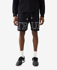 Men's Outline Logo Knit Shorts