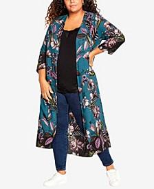 Plus Size Lorinda Longline Jacket