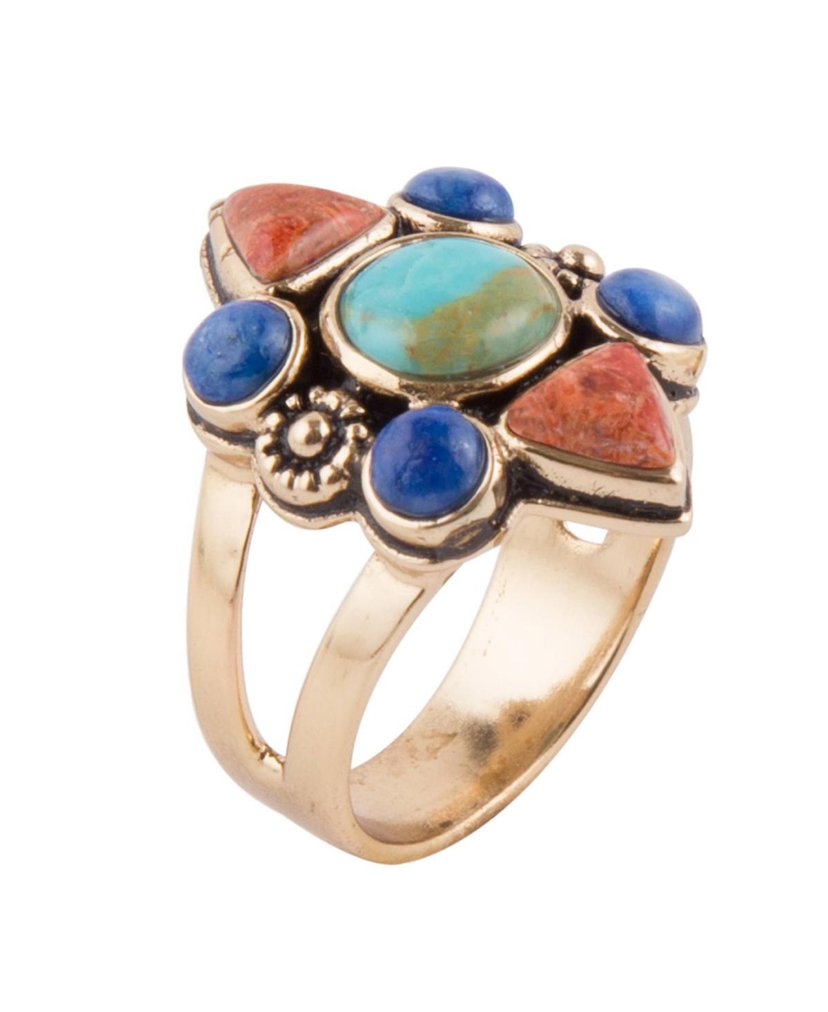 Barse Bronco Multi Stone Ring