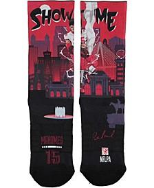 Men's Patrick Mahomes Kansas City Chiefs Superhero Socks