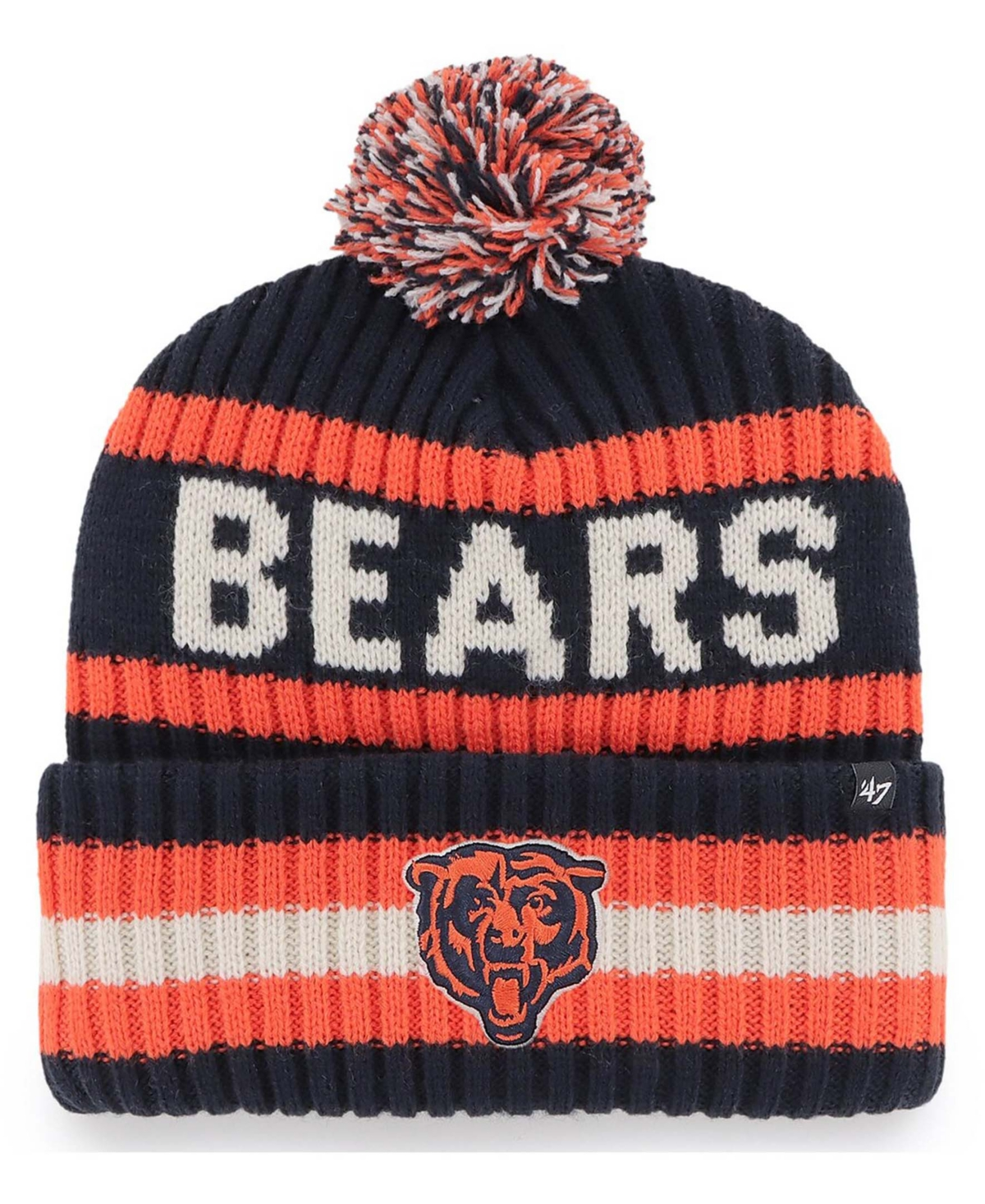 47 Brand Chicago Bears Bering Cuffed Knit Hat with Pom