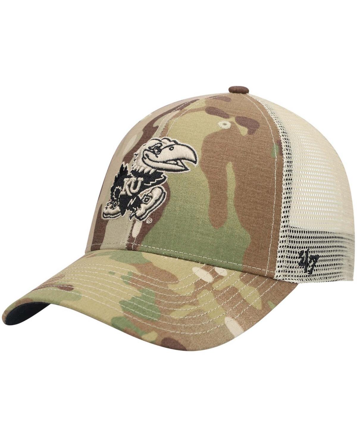 47 Mens Camo Kansas Jayhawks Oht Military Appreciation Colonel Mvp Adjustable Snapback Hat