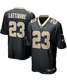 Men's Marshon Lattimore Black New Orleans Saints Game Player Jersey
