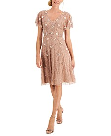Floral Beaded Party Dress