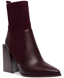 Women's Tackle Block-Heel Knit Sock Booties