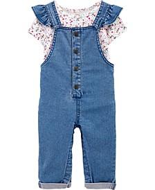 2-Piece Floral Bodysuit & Overall Set