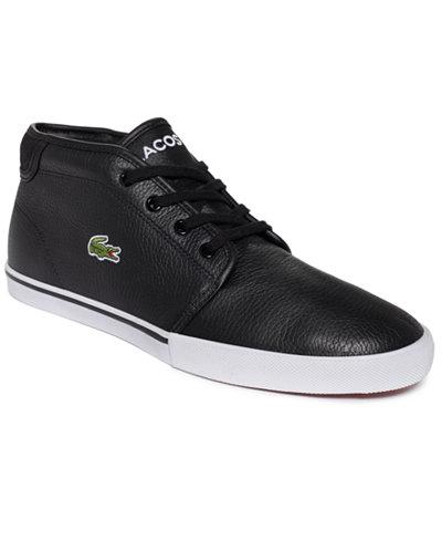 lacoste shoes for men black