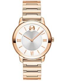 Women's Bold Luxe Swiss Rose Gold-Tone Bracelet Watch 32mm