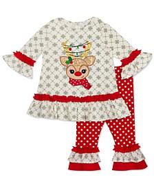 Baby Girls 2-Pc. Reindeer Tunic & Leggings Set