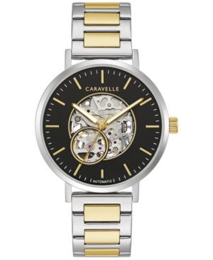 Designed by Bulova Men's Automatic Two-Tone Stainless Steel Bracelet Watch 39.5mm