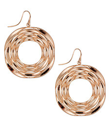 SIS by Simone I Smith Destiny Circle Drop Earrings in 18k Rose Gold over Sterling Silver