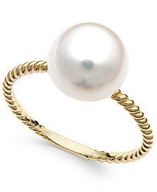 Belle de Mer Cultured Freshwater Pearl Ring in 14k Gold (9mm)