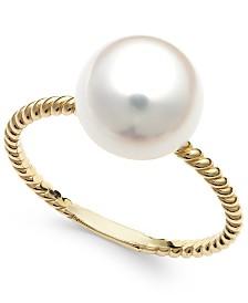 Belle de Mer Cultured Freshwater Pearl Ring in 14k Gold (9mm)