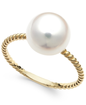 Cultured Freshwater Pearl Ring in 14k Gold (9mm)