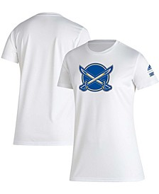 Women's White Buffalo Sabres Reverse Retro Creator T-shirt