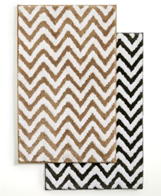 Captivating Hotel Collection Chevron Bath Rug Collection, Created For Macyu0027s