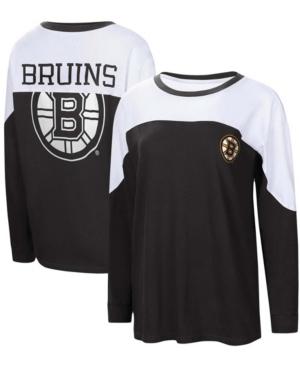 Women's Black Boston Bruins Pop Fly Long Sleeve T-shirt
