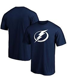 Men's Blue Tampa Bay Lightning Team Primary Logo T-shirt