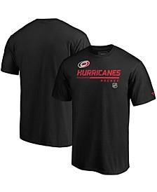 Men's Black Carolina Hurricanes Authentic Pro Core Collection Prime T-shirt