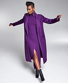 Misa Hylton Long Scuba Coat, Created for Macy's