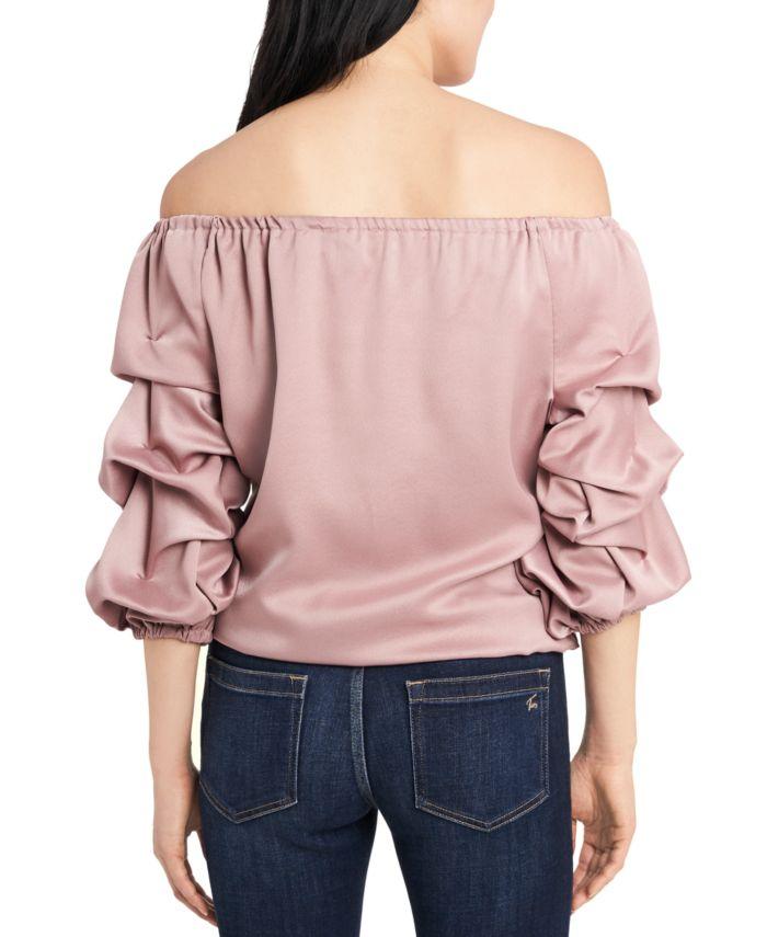 MSK Petite Puff-Sleeve Blouse & Reviews - Tops - Petites - Macy's