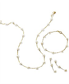 EFFY® Cultured Freshwater Pearl Tin Cup Necklace, Bracelet & Earrings Jewelry Collection