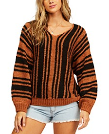 Juniors' Laid Back Striped Sweater