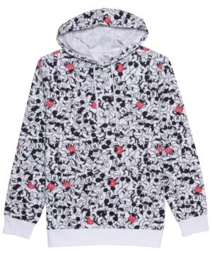 Men's Mickey All Over Print Hooded Fleece Sweatshirt