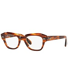RX5486 State Street Optics Unisex Irregular Eyeglasses