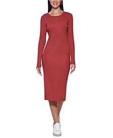 Cotton Knit Midi Dress