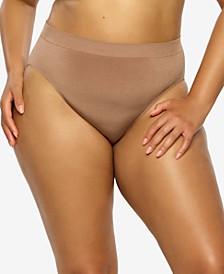Plus Size Body Smooth Seamless High Leg Brief Panty