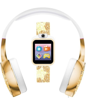 Playzoom 2 Kids Gold-Tone Silicone Strap Touch Screen Sports Digital Watch