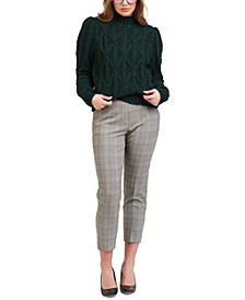 Petite Cropped Slim-Fit Trousers