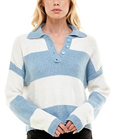 Juniors' Striped Rugby Sweater
