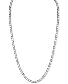 """Cubic Zirconia 22"""" Tennis Necklace (Also in Black Spinel), Created for Macy's"""