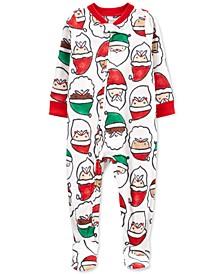 Baby Boys & Girls 1-Piece Santa Fleece Footie Pajamas