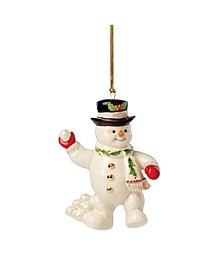 2021 Snowball Fight Snowman Ornament