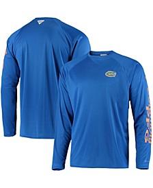 Men's PFG Royal Florida Gators Terminal Tackle Omni-Shade Long Sleeve T-shirt