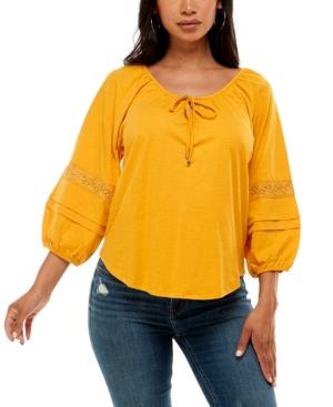 Women's 3/4 Sleeve Peasant Top