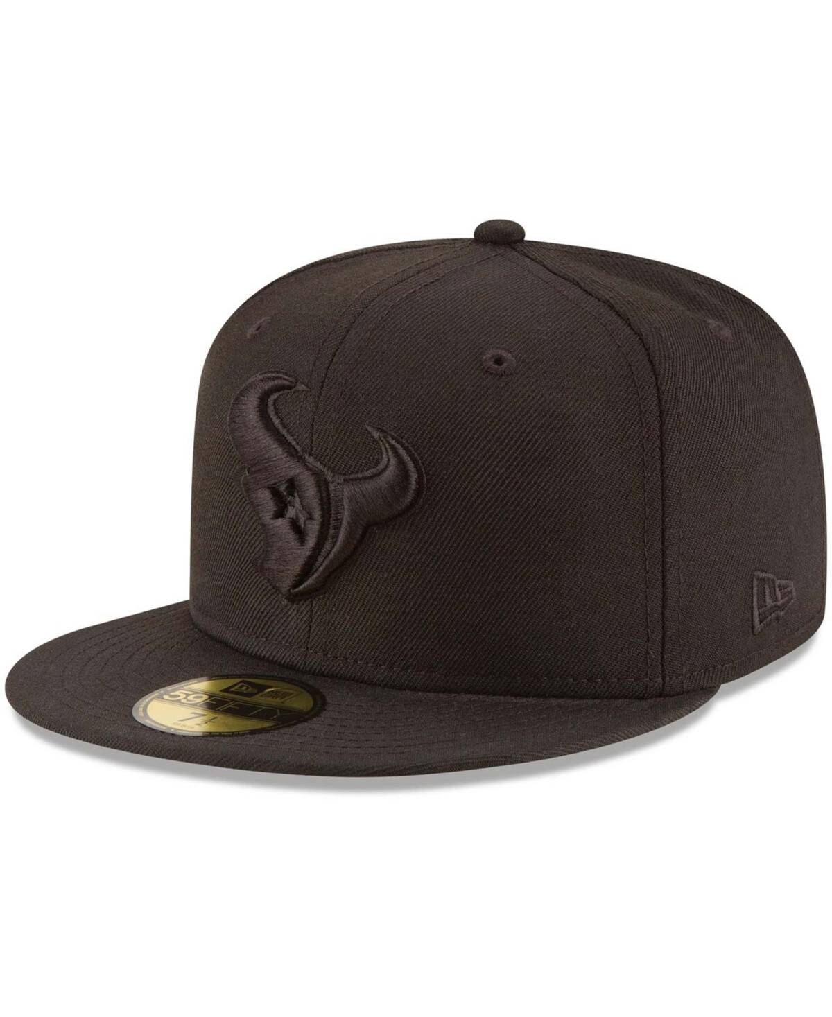 Men's Houston Texans Black on Black 59FIFTY Fitted Hat
