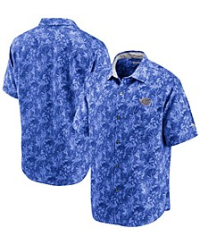 Men's Royal Florida Gators Sport Jungle Shade Camp Button-Up Shirt