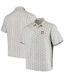 Men's White Denver Broncos Baja Mar Throwback Woven Button-Up Shirt