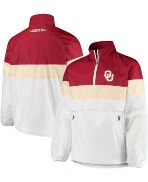 Men's White Oklahoma Sooners No Huddle Half-Zip Pullover Jacket