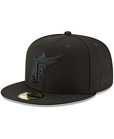 Men's Black Florida Marlins Throwback Primary Logo Basic 59FIFTY Fitted Hat