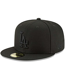 Men's Black Los Angeles Dodgers Primary Logo Basic 59FIFTY Fitted Hat
