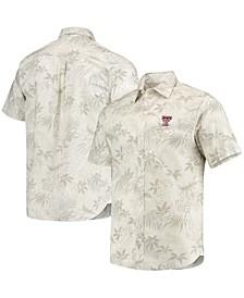 Men's Oatmeal Texas Tech Red Raiders Forest Fronds Button-Up Shirt
