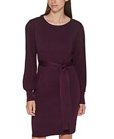 Tie-Waist Sweater Dress