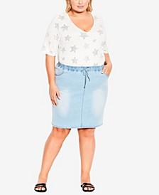 Plus Size Naomi Denim Skirt
