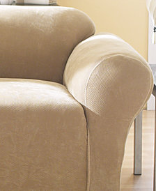 Sure Fit Stretch Pique 1-Piece Loveseat Slipcover